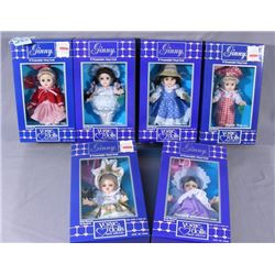 GROUP OF SIX VOGUE  GINNY  DOLLS