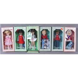 GROUP OF SIX VINTAGE VOGUE GINNY DOLLS