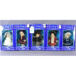 "GROUP OF FIVE VOGUE ""WORLD OF GINNY DOLLS"""