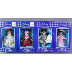 "GROUP OF FOUR ""GINNY"" DOLLS"