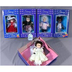"GROUP OF FIVE ""GINNY"" DOLLS"