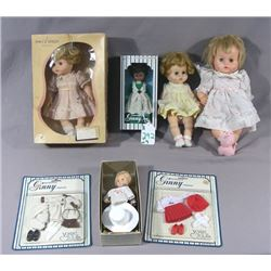 GROUP OF SEVEN MISC. VOGUE  GINNY  DOLLS AND OUTFITS