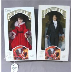 """TWO """"GONE WITH THE WIND"""" WORLD DOLLS"""