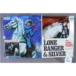 "VINTAGE ""THE LONE RANGER & SILVER"" DOLL SET"