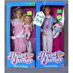 """THE HEART FAMILY """"DAD & BABY"""" AND 'MOM & BABY"""""""