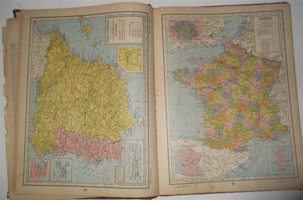 3 atlas/geography books