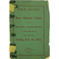 The Very Rare 1911 Adams Sale of Woodin's Patterns