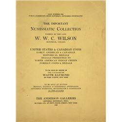 Important 1925 W.W.C. Wilson Sale