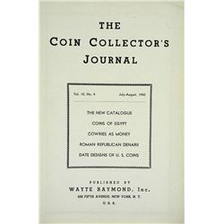 The Coin Collector's Journal by Raymond