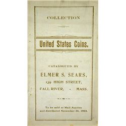 Rare 1904 Elmer Sears Auction Catalogue