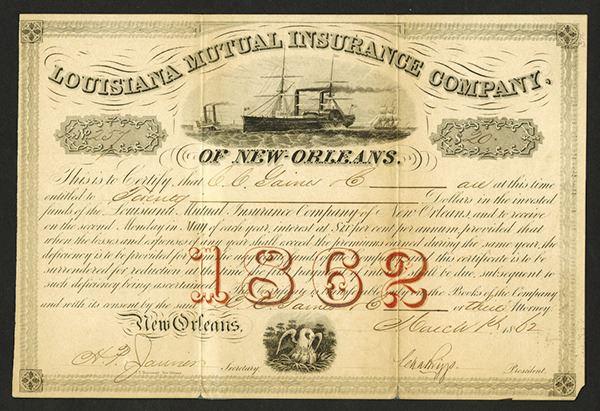 Louisiana Mutual Insurance Company of New Orleans, 1862 ...