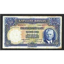 Latvijas Bankas. 1934 Issue.