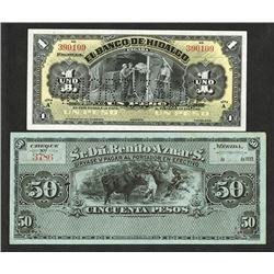 Banco de Hidalgo 1902-14 Bank Note Issue