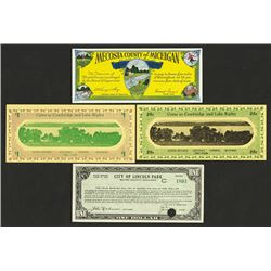 Wisconsin and Michigan 1933-34 Depression Scrip Note Assortment.
