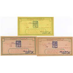 Put Cleveland to Work Society, Inc., ND (ca.1930's), Scrip Note Trio.