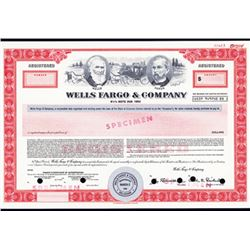 Wells Fargo & Co. 1985, Specimen Bond.