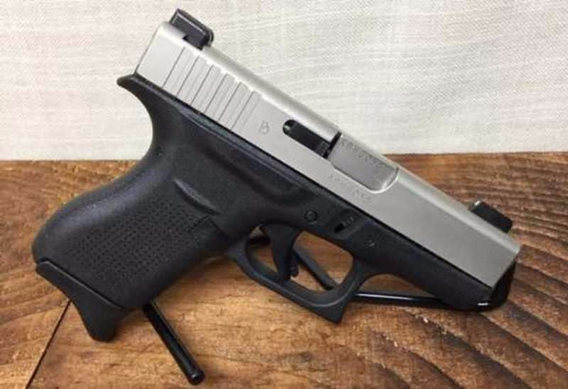 Glock 42  380 Upgraded Nickel Bourn Slide and Barrel, Night Sights