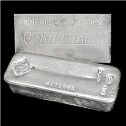 100 OZ Bar Silver various makers
