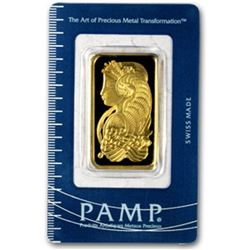 1 oz. Pamp Suisse Gold Ingot on Card