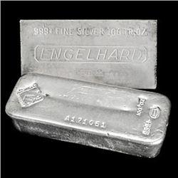 100 oz Silver bar various maker - Pure