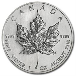 Lot of (10) Silver Maple leafs 1 oz