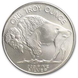 (10) Buffalo Silver Rounds Pure