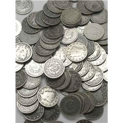 Lot of 100 V Nickels- Early Various Dates