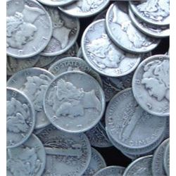 LOT OF 400 MERCURY DIMES-