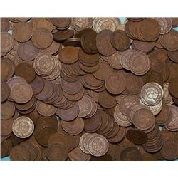 LOT OF 500 INDIAN HEAD CENTS-cleaned-culls