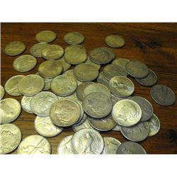 Lot of 60 Assorted US Minted Silver Dollar-Pre '35