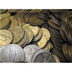 100 Peace Silver Dollars