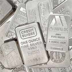 (10) Random Maker 1 oz Silver Bars