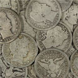 Lot of (20) Barber Quarters - Circulated