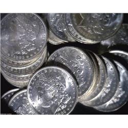 5 - Nice UNC Morgan Silver Dollars - Random