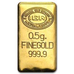 Half Gram Pure Gold Ingot