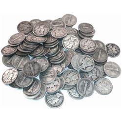 (100) Mercury Dimes 90% Silver Random Dates