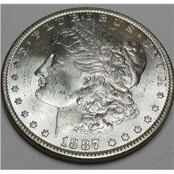 1887 P BU Morgan Silver Dollar