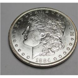 1884 O BU Morgan Silver Dollar
