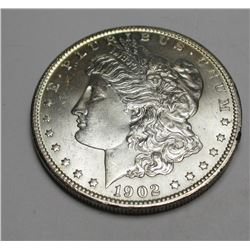 1902 o BU Morgan Silver Dollar