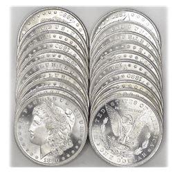 Lot of (20) 1880-89 CH BU Morgan Dollars