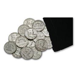 Lot of (20) Franklin Half Dollars 90% Silver