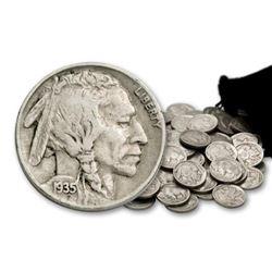 Lot (100) Full Date Buffalo Nickels