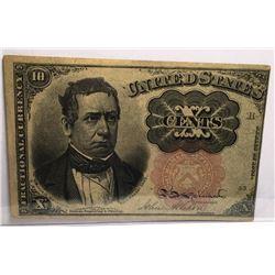 1874 Postal Fractional X cents Extra Fine Plus