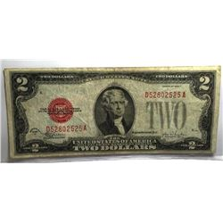 1928 $2 Red Seal XF Grade Note