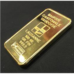 100 Gram Solid Pure Gold Ingot or Bar