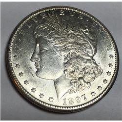 1897 S BETTER DATE HIGH GRADE PL Morgan Dollar