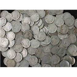 Lot of (300) ND Buffalo Nickels