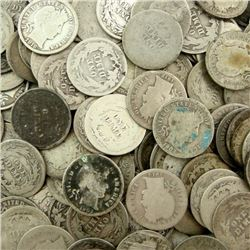 Lot of 100 Barber Dimes - Circulated Mixed