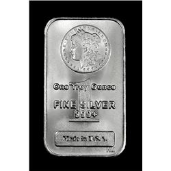 (1) 1oz Pure .999 Silver Morgan Design Bar
