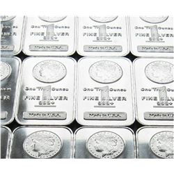 Lot of (10) Morgan Design Silver Bars- 1oz ea.